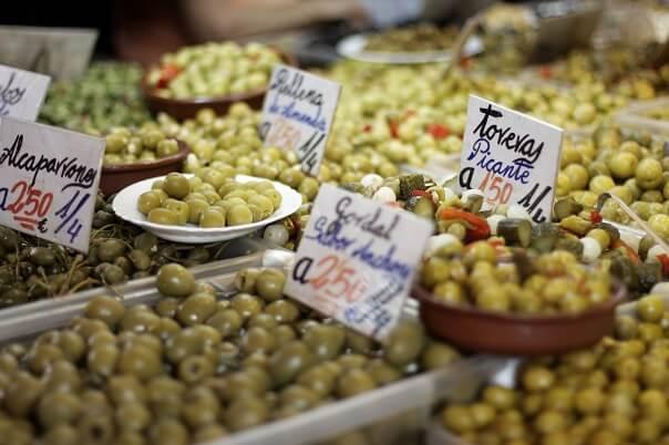 olives malaga food market