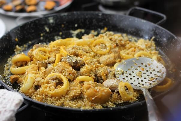 meeresfrüchte paella rezept