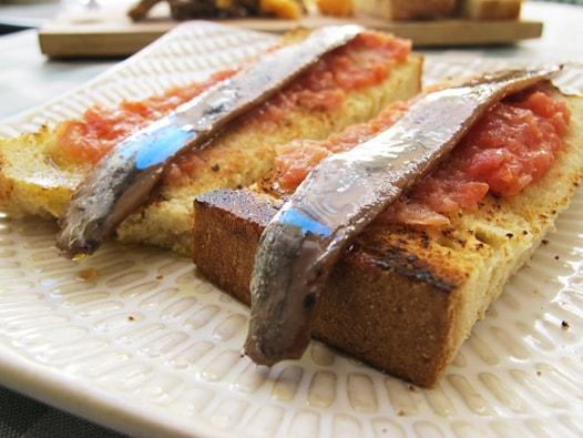 malaga anchovies tapa