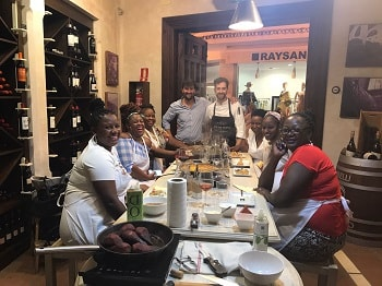 family cooking class in marbella