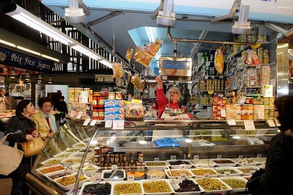 Santa Caterina food market stalls Barcelona