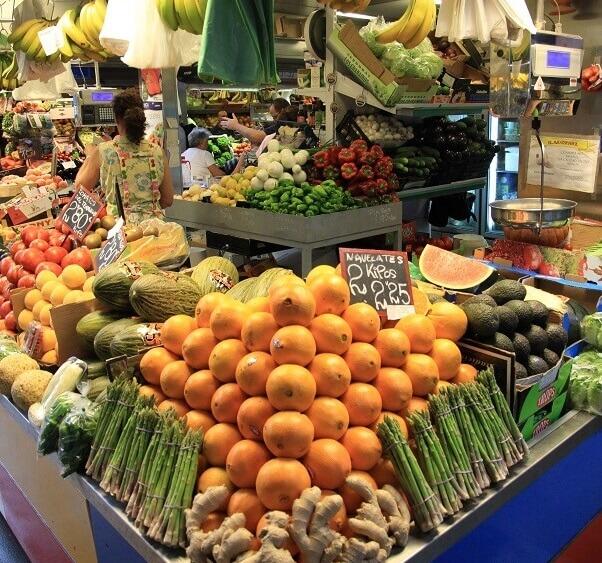 malaga market fruit stall
