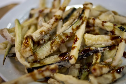 Deep fried eggplant strips picture 840