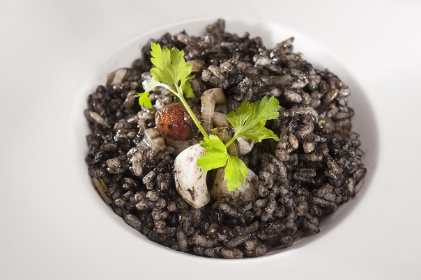 black rice with ink