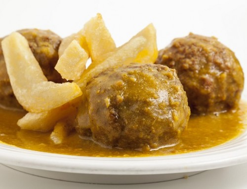 Meatballs with Almond Sauce from  Malaga