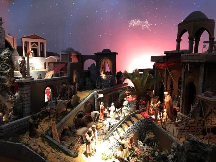 The Nativity Scene in the Town Hall malaga