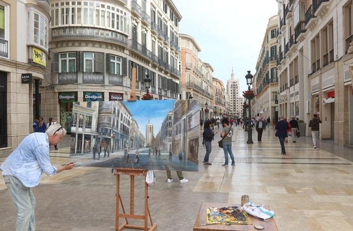 Larios Street Malaga Spain