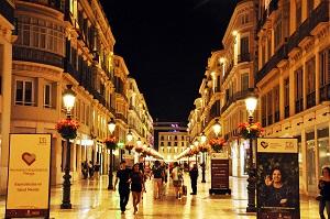 Larios Street illuminated malaga