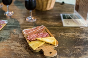 iberian cold cuts and local cheese in ultramarinos