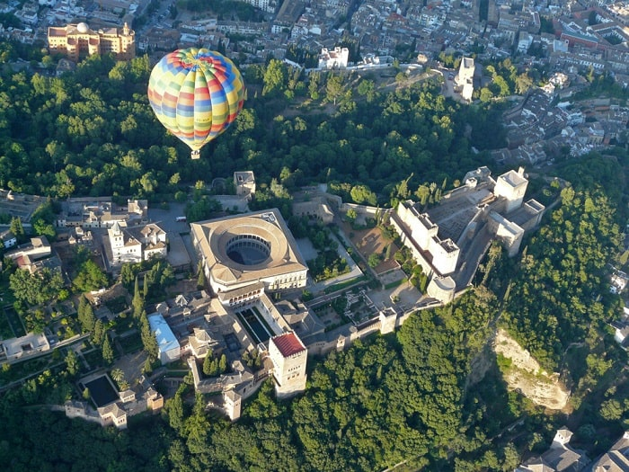 Alhambra view by balloon