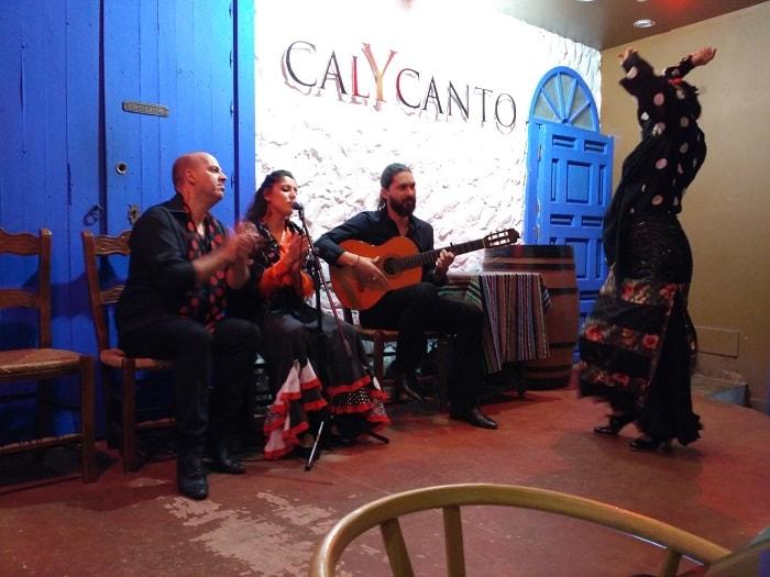 flamenco show at cal y canto malaga